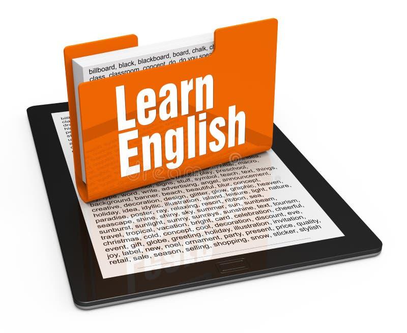 Τα μαθαίνοντας αγγλικά ελεύθερη απεικόνιση δικαιώματος