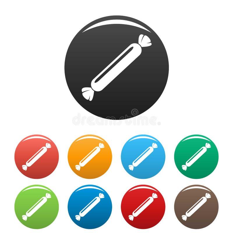 Τα μακροχρόνια bonbon εικονίδια καθορισμένα το χρώμα ελεύθερη απεικόνιση δικαιώματος