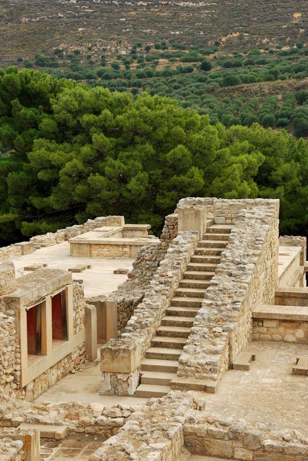 Τα μεγάλα σκαλοπάτια σε Knossos στοκ φωτογραφία