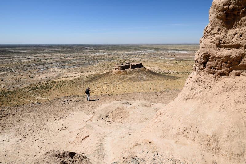Τα μεγαλύτερα κάστρα καταστροφών αρχαίου Khorezm †«Ayaz - Kala, Ουζμπεκιστάν στοκ φωτογραφία