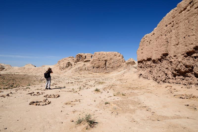Τα μεγαλύτερα κάστρα καταστροφών αρχαίου Khorezm †«Ayaz - Kala, Ουζμπεκιστάν στοκ εικόνες με δικαίωμα ελεύθερης χρήσης