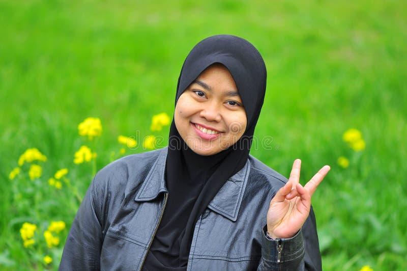 τα μουσουλμανικά χαμόγ&epsilon στοκ εικόνα με δικαίωμα ελεύθερης χρήσης