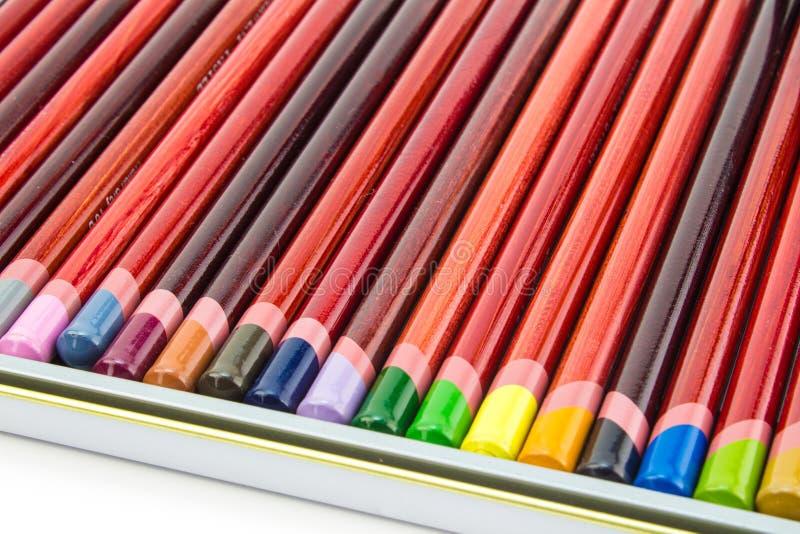 Τα μολύβια τέχνης κλείνουν επάνω στοκ φωτογραφία