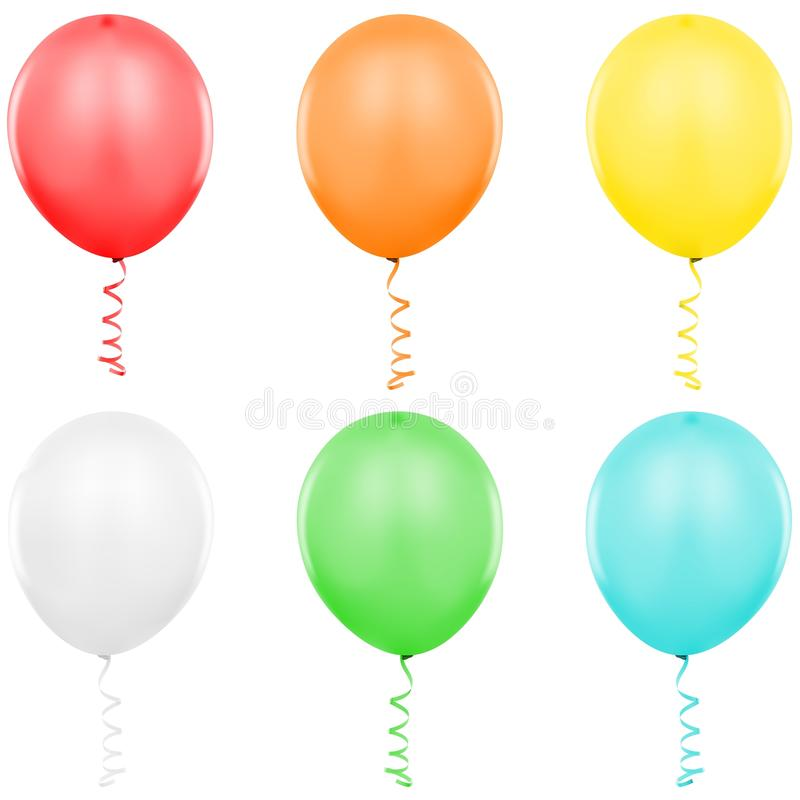 τα μπαλόνια ξεχωρίζουν διανυσματική απεικόνιση