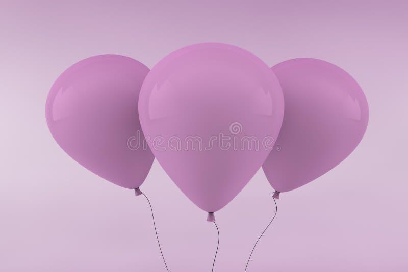 τα μπαλόνια οδοντώνουν τρία απεικόνιση αποθεμάτων