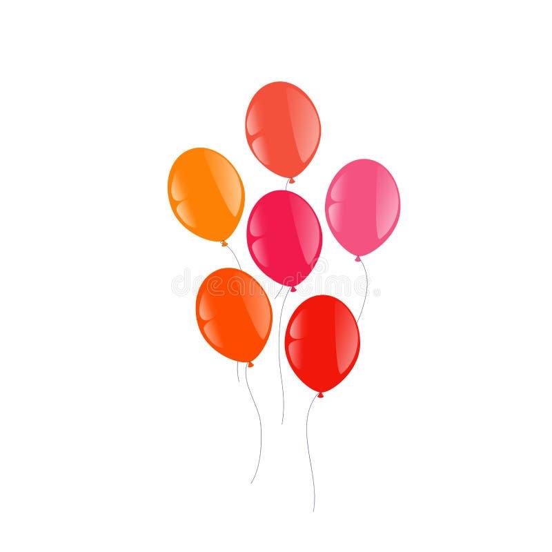 τα μπαλόνια ανασκόπησης απομόνωσαν το λευκό διανυσματική απεικόνιση
