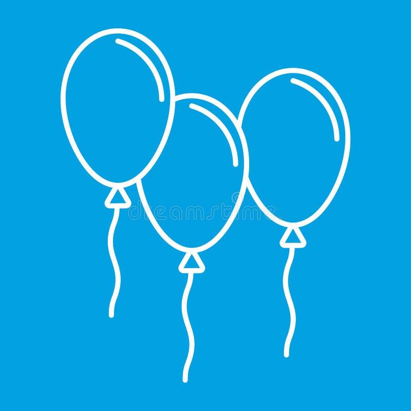 Τα μπαλόνια λεπταίνουν το εικονίδιο γραμμών ελεύθερη απεικόνιση δικαιώματος