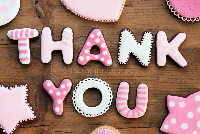 τα μπισκότα σας ευχαρισ&tau στοκ εικόνες
