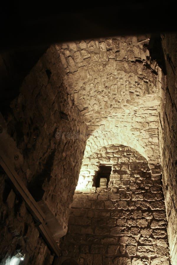Τα μπουντρούμια του ναού τοποθετούν τα ιερά εβραϊκά άτομα του Ισραήλ Ιερουσαλήμ οι περισσότεροι άνθρωποι ένα τοποθετούν τις θέσει στοκ εικόνες