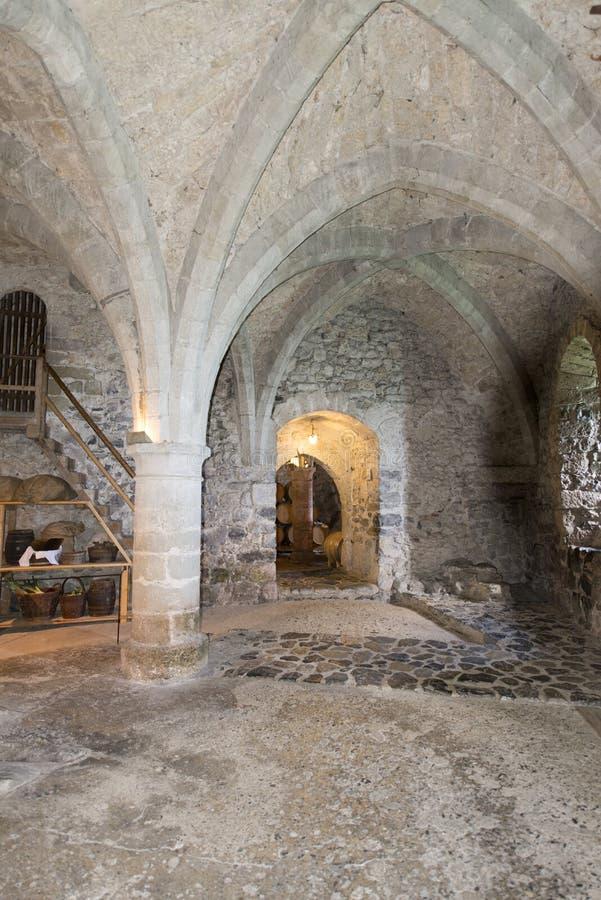 Τα μπουντρούμια Chillon Castle, Ελβετία στοκ φωτογραφία με δικαίωμα ελεύθερης χρήσης