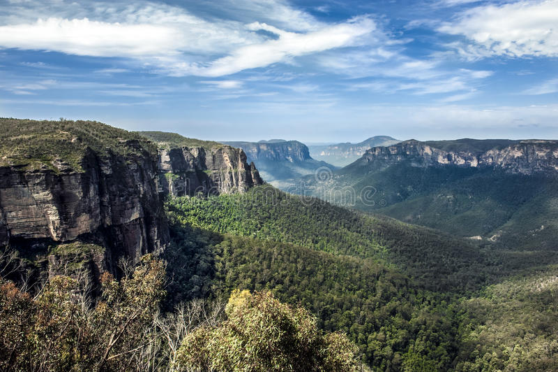 Τα μπλε βουνά, Αυστραλία στοκ εικόνα με δικαίωμα ελεύθερης χρήσης