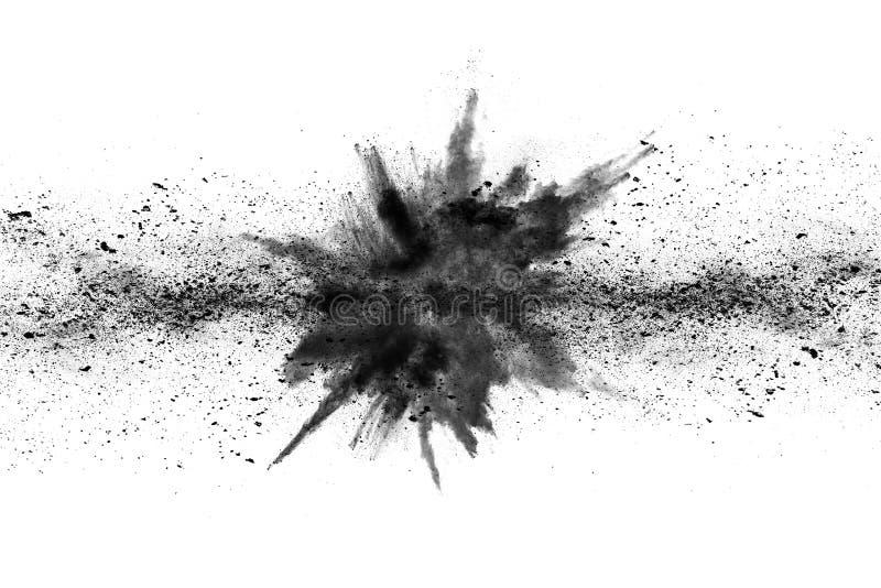 Τα μόρια του ξυλάνθρακα στο άσπρο υπόβαθρο, αφηρημένη σκόνη στο άσπρο υπόβαθρο στοκ φωτογραφία με δικαίωμα ελεύθερης χρήσης