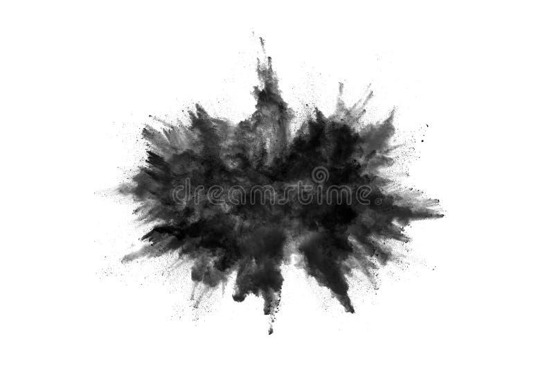Τα μόρια του ξυλάνθρακα στο άσπρο υπόβαθρο, αφηρημένη σκόνη στο άσπρο υπόβαθρο στοκ εικόνα με δικαίωμα ελεύθερης χρήσης