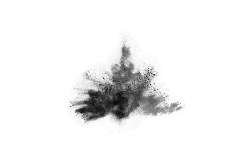 Τα μόρια του ξυλάνθρακα στο άσπρο υπόβαθρο, αφηρημένη σκόνη στο άσπρο υπόβαθρο στοκ εικόνες με δικαίωμα ελεύθερης χρήσης