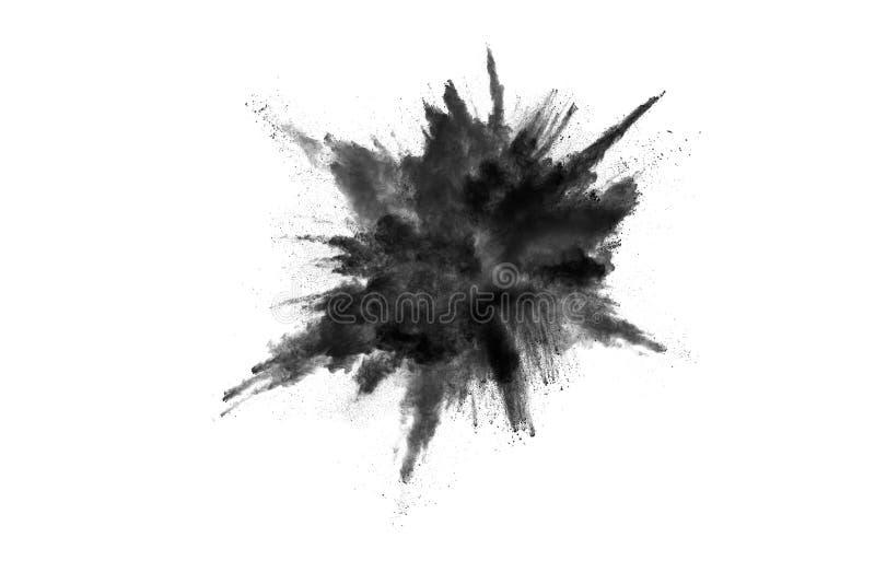 Τα μόρια του ξυλάνθρακα στο άσπρο υπόβαθρο, αφηρημένη σκόνη στο άσπρο υπόβαθρο στοκ εικόνες