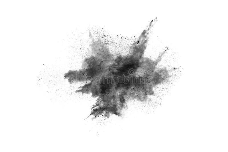 Τα μόρια του ξυλάνθρακα στο άσπρο υπόβαθρο, αφηρημένη σκόνη στο άσπρο υπόβαθρο στοκ φωτογραφίες με δικαίωμα ελεύθερης χρήσης
