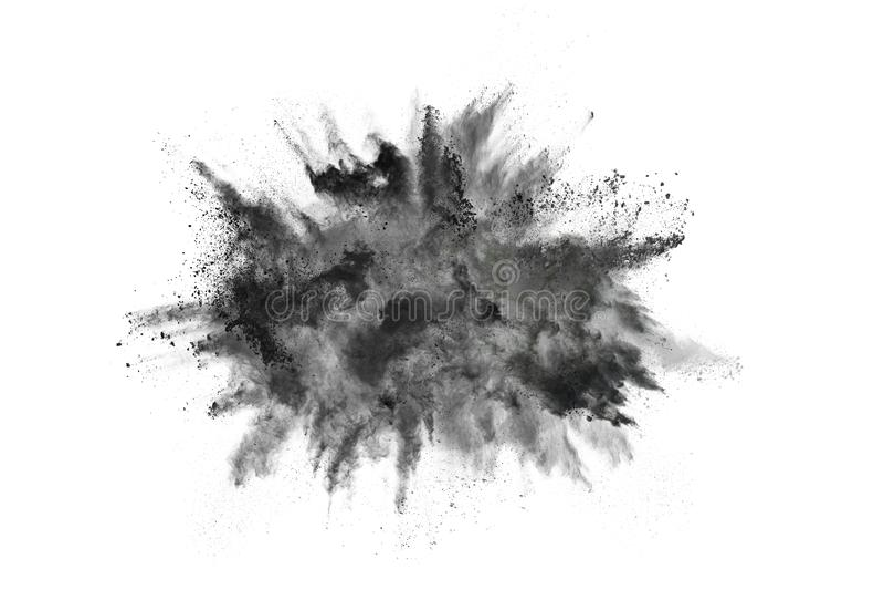Τα μόρια του ξυλάνθρακα στο άσπρο υπόβαθρο, αφηρημένη σκόνη στο άσπρο backgroun στοκ φωτογραφίες με δικαίωμα ελεύθερης χρήσης