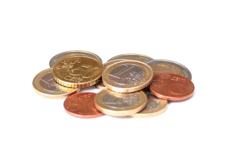 τα νομίσματα απομόνωσαν τ&omicro στοκ εικόνες
