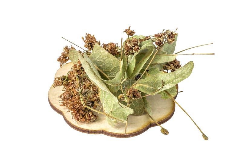 Τα ξηρά λουλούδια για το χρήσιμο βοτανικό τσάι σε ένα άσπρο backgro στοκ φωτογραφίες με δικαίωμα ελεύθερης χρήσης