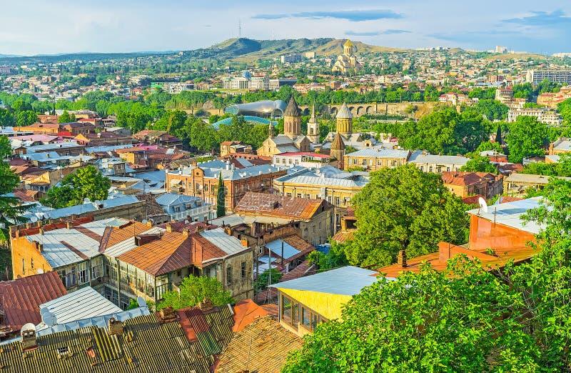 Τα ορόσημα του παλαιού Tbilisi στοκ φωτογραφία με δικαίωμα ελεύθερης χρήσης