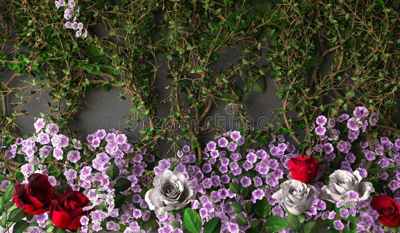Τα λουλούδια αυξήθηκαν υπόβαθρο διακοπών στοκ εικόνες με δικαίωμα ελεύθερης χρήσης