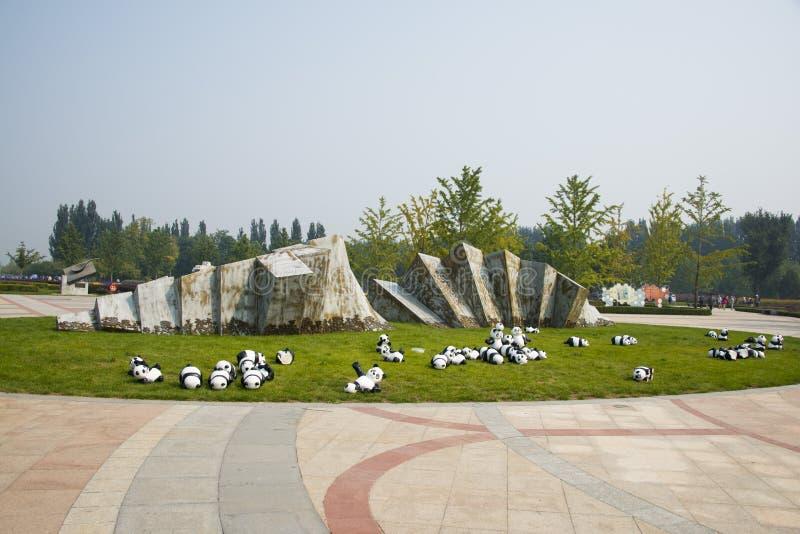 Τα λουλούδια shunyi της Ασίας, Κίνα, Πεκίνο, λιμένας, τακτοποιούν το πράσινο διάστημα, τοίχος τοπίων στοκ εικόνα
