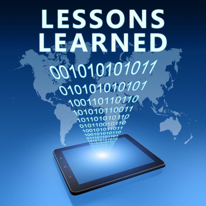 Τα παθήματα που γίνονται μαθήματα ελεύθερη απεικόνιση δικαιώματος