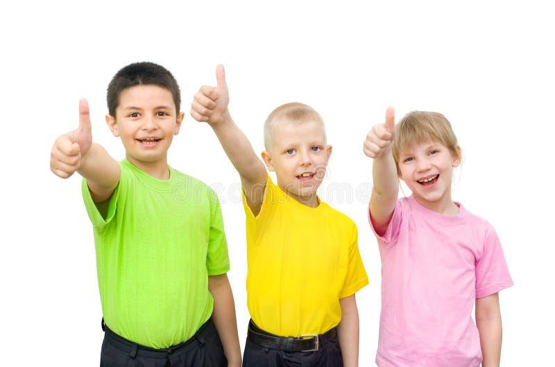 τα παιδιά εμφανίζουν σημάδ&i στοκ φωτογραφίες