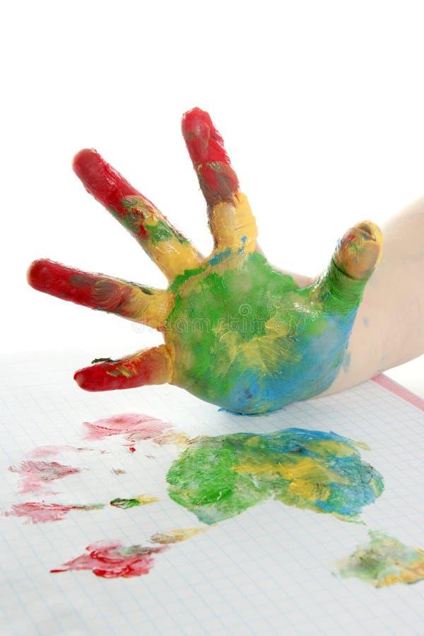 τα παιδιά ζωηρόχρωμα παραδί& στοκ εικόνες