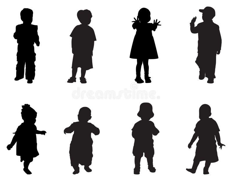 τα παιδιά σκιαγραφούν