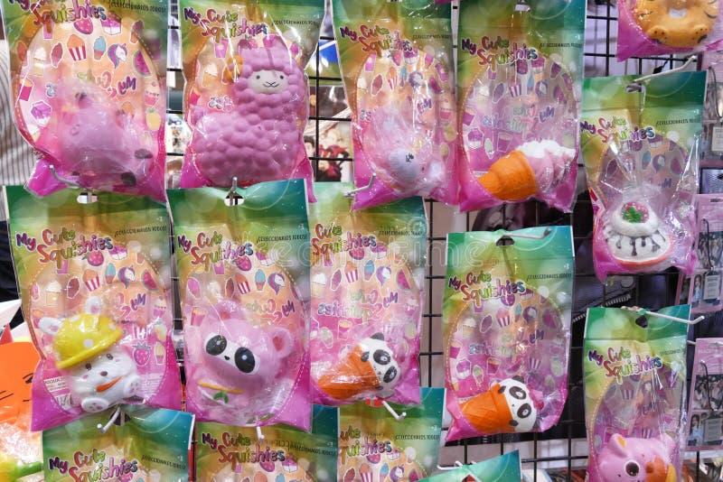 Τα παιχνίδια Squishy για τα παιδιά λογαριάζουν το ιαπωνικό αναμνηστικό στοκ εικόνα