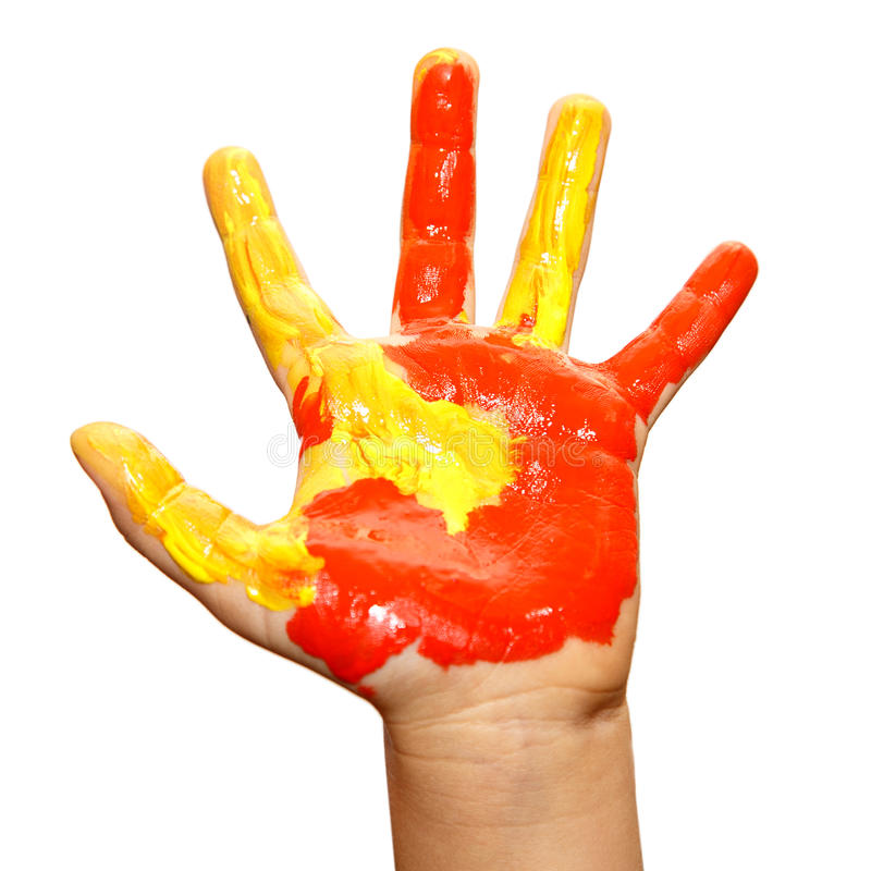 Τα παιδιά δίνουν το χρώμα στοκ εικόνες