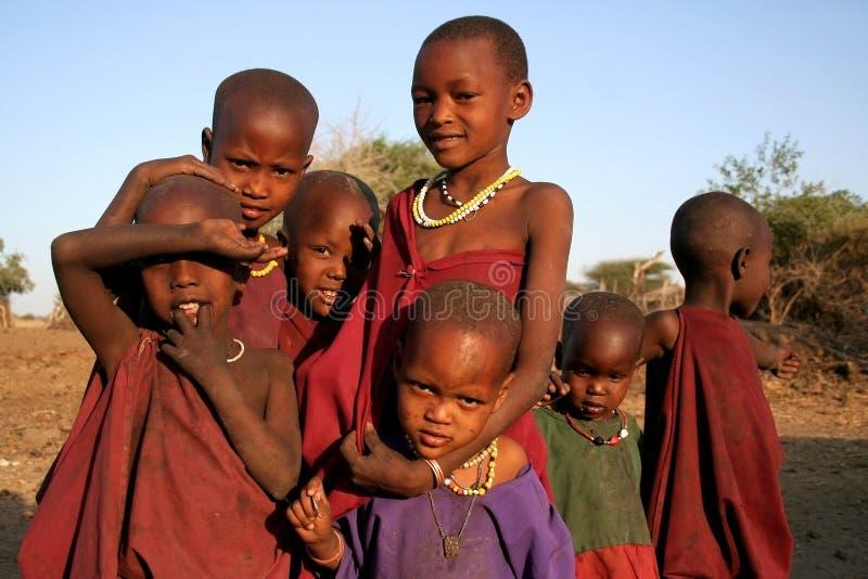 Τα παιδιά Masaai στοκ φωτογραφία με δικαίωμα ελεύθερης χρήσης