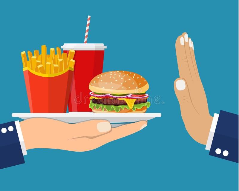Τα παλιοπράγματα γρήγορου φαγητού στάσεων τσιμπάνε την έννοια διανυσματική απεικόνιση
