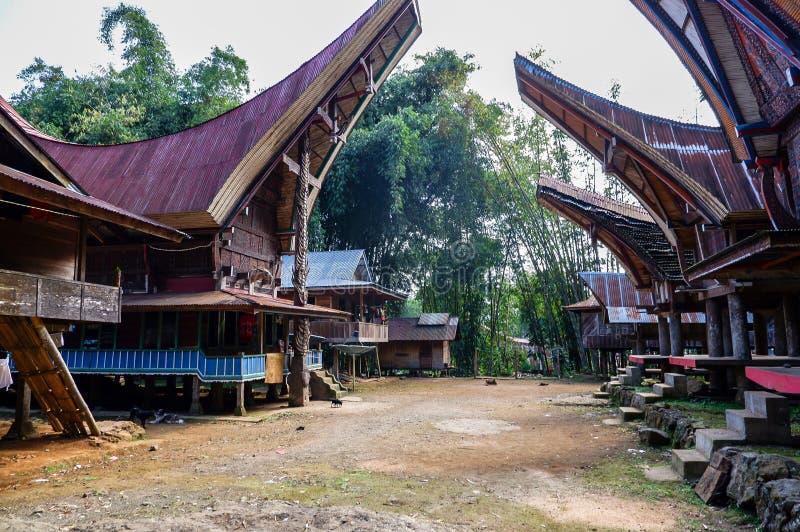 Τα παραδοσιακά χωριά στη Tana Toraja, Sulawesi στοκ εικόνα