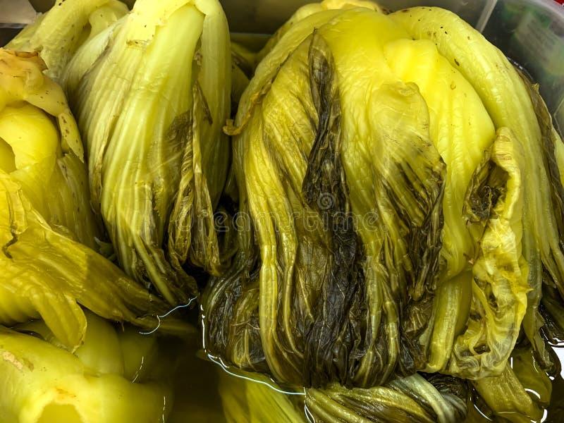 Τα παστωμένα λαχανικά ή κινέζικα πάστωσαν το μαρούλι στοκ φωτογραφία με δικαίωμα ελεύθερης χρήσης