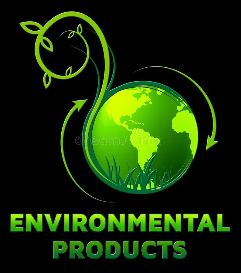 Τα περιβαλλοντικά προϊόντα παρουσιάζουν στα αγαθά Eco τρισδιάστατη απεικόνιση διανυσματική απεικόνιση