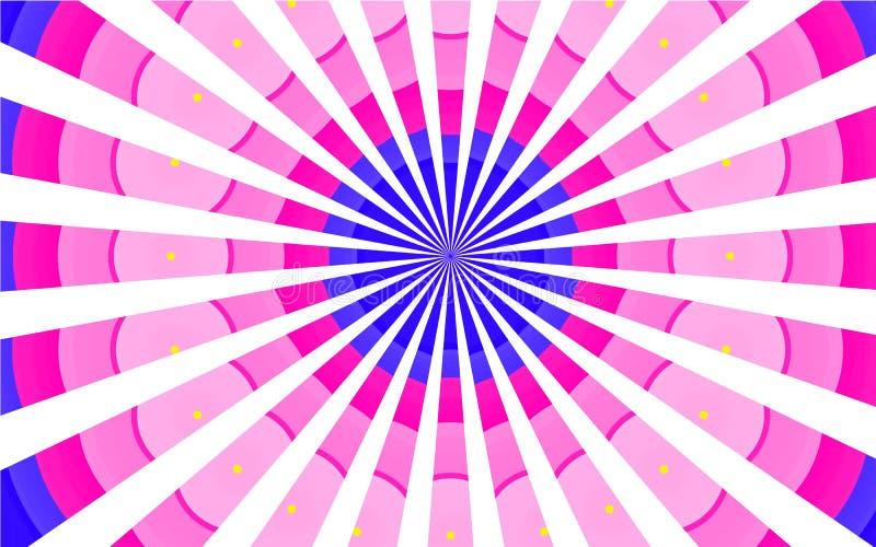 Τα πολύχρωμα χρωματισμένα εκλεκτής ποιότητας αναδρομικά εκλεκτής ποιότητας όμορφα σχέδια εδιάστισαν τις ρόδινες πορφυρές μπλε άσπ ελεύθερη απεικόνιση δικαιώματος