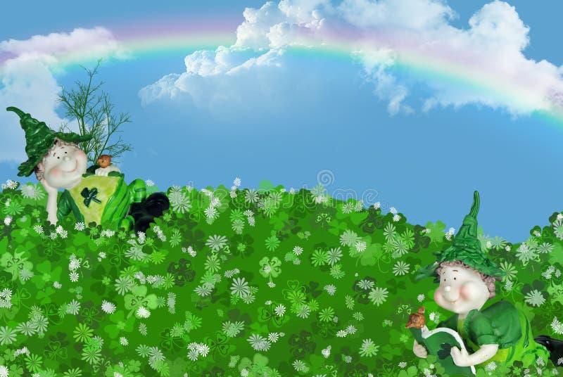 τα πράσινα ιρλανδικά ελεύθερη απεικόνιση δικαιώματος