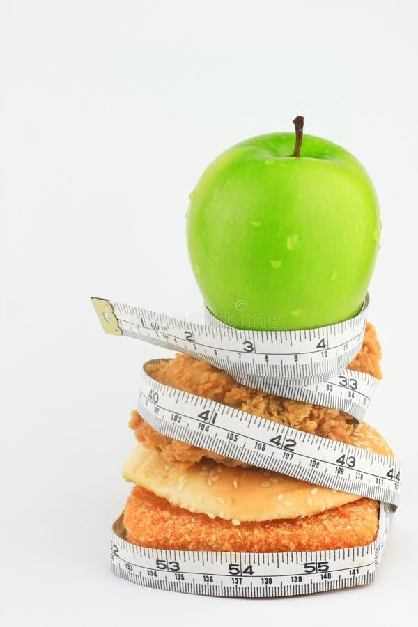Τα πράσινα μήλα είναι υγιή τρόφιμα. στοκ εικόνα