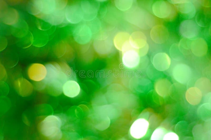 Τα πράσινα φω'τα bokeh το υπόβαθρο στοκ εικόνες με δικαίωμα ελεύθερης χρήσης