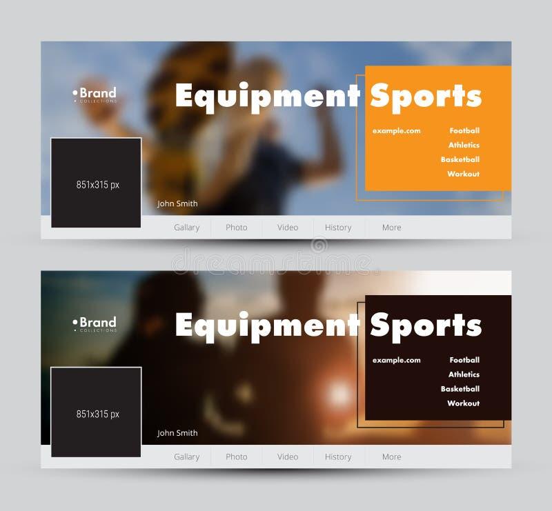 Τα πρότυπα των διανυσματικών εμβλημάτων για τα κοινωνικά δίκτυα με μια θέση για μια φωτογραφία και ένα χρώμα τακτοποιούν για τον  απεικόνιση αποθεμάτων