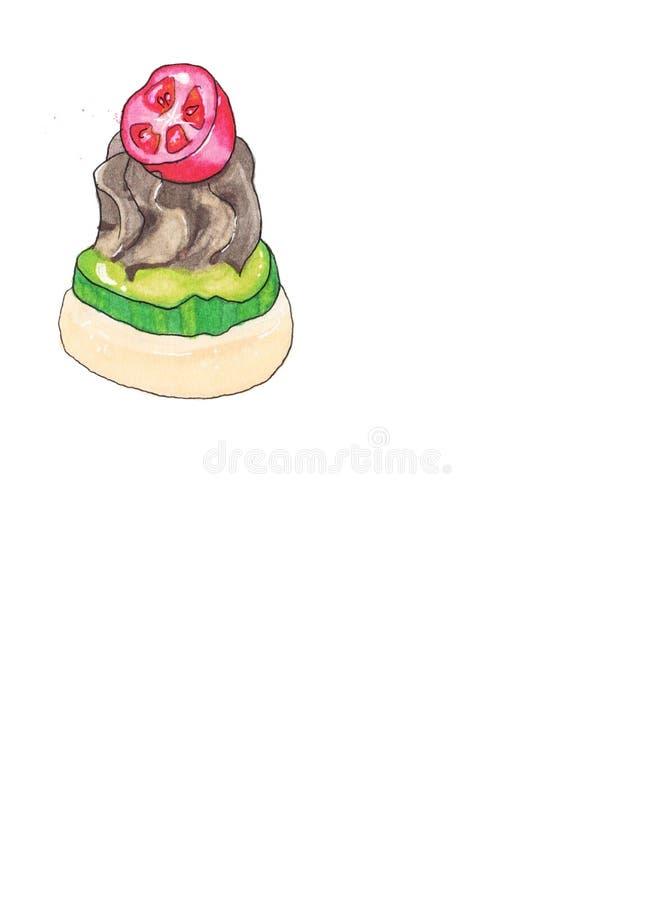 Τα πρόχειρα φαγητά δίνουν συμένος Απεικόνιση τροφίμων μπαρ στοκ φωτογραφία με δικαίωμα ελεύθερης χρήσης