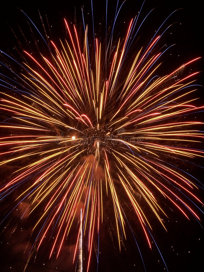 τα πυροτεχνήματα εμφανίζουν VI στοκ φωτογραφία με δικαίωμα ελεύθερης χρήσης