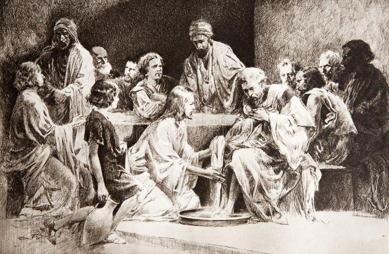 τα πόδια Χριστού διαρκούν τ στοκ εικόνα με δικαίωμα ελεύθερης χρήσης