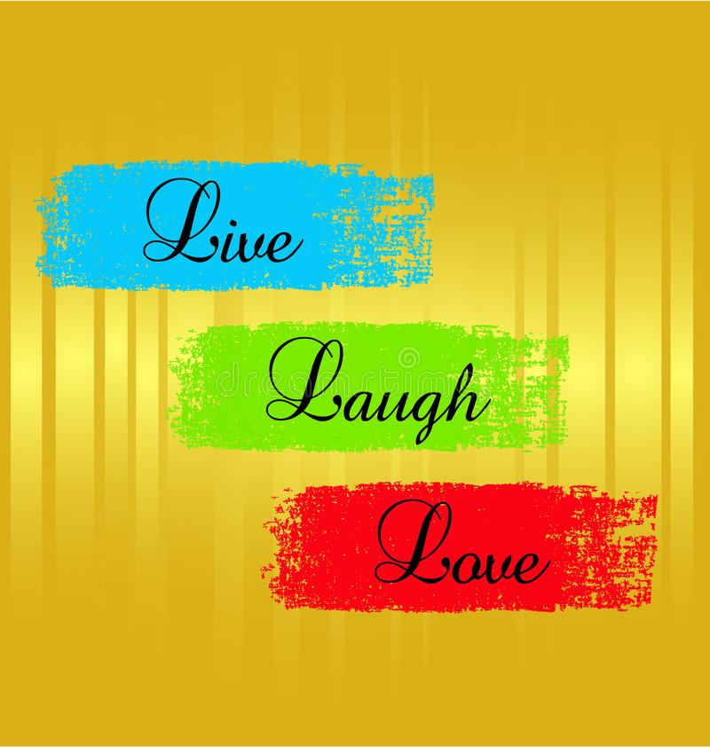 Τα ρητά λέξης, ζωντανά, γέλιο, αγαπούν τη διανυσματική απεικόνιση απεικόνιση αποθεμάτων