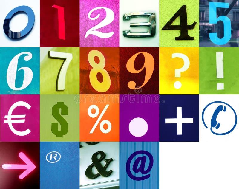 τα σημάδια αριθμών γράφουν στοκ εικόνες
