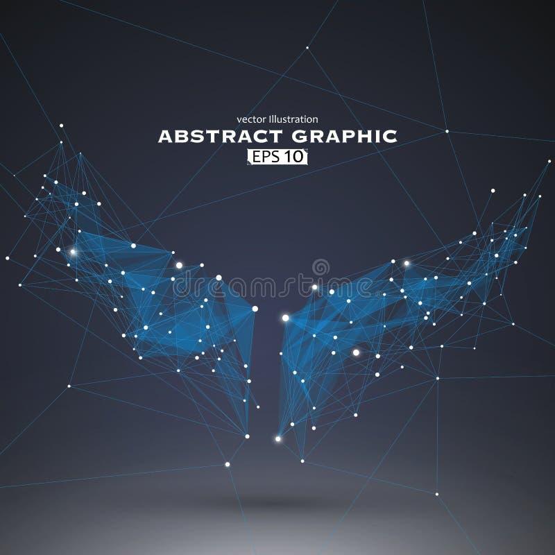 Τα σημεία και οι γραμμές σύνδεσαν, μια αίσθηση της επιστήμης και διανυσματική απεικόνιση τεχνολογίας απεικόνιση αποθεμάτων