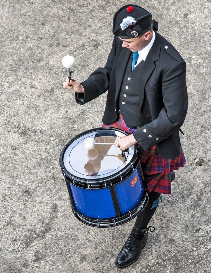 Τα σκωτσέζικα drummer1 στοκ εικόνα
