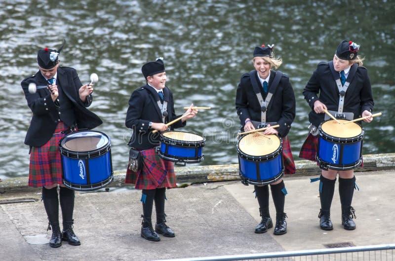 Τα σκωτσέζικα drummer5 στοκ φωτογραφία με δικαίωμα ελεύθερης χρήσης